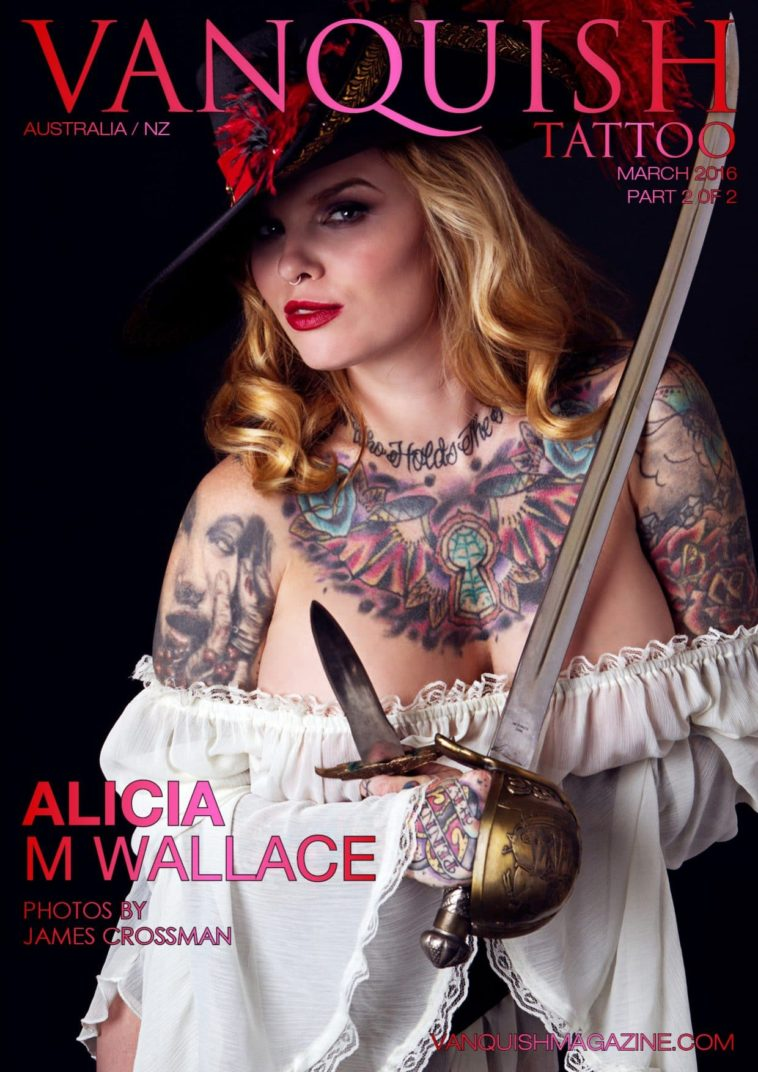 Vanquish Tattoo Magazine - March 2016 - Alicia M Wallace 1