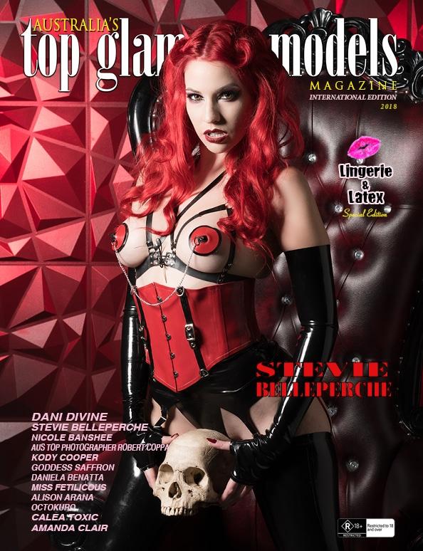 Australia's Top Glamour Models - Lingerie & Latex - Stevie Belleperche 1